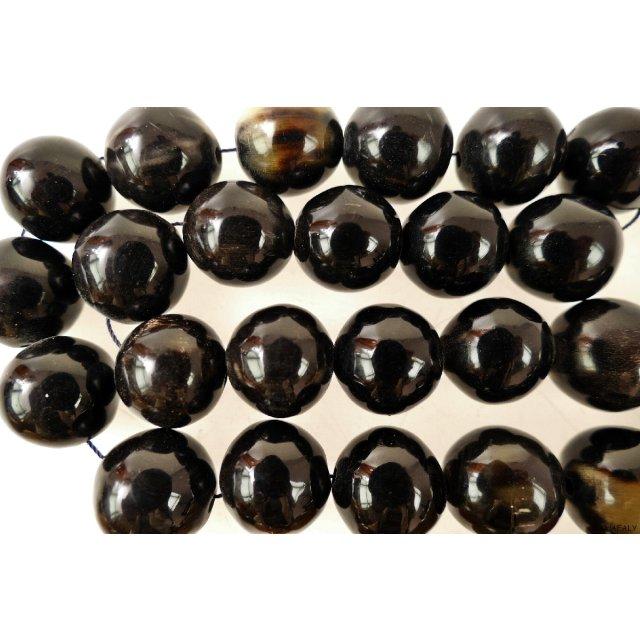 50g Indische Horn-Perlen aus Wasserbüffel-Horn in verschied Designs und Größen
